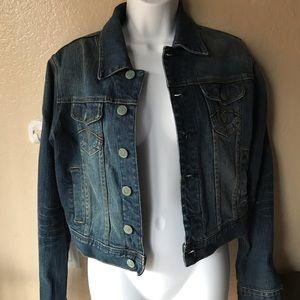 American Rag Cropped Jean Jacket Sz M